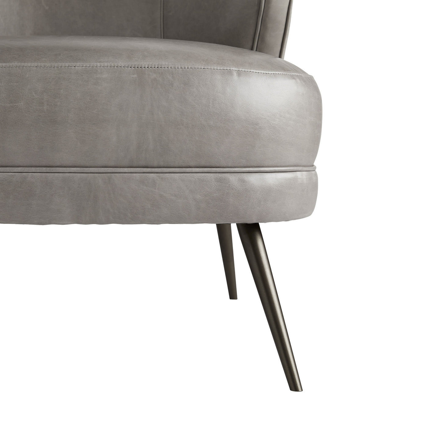 arteriors kitts chair mineral gray leather leg
