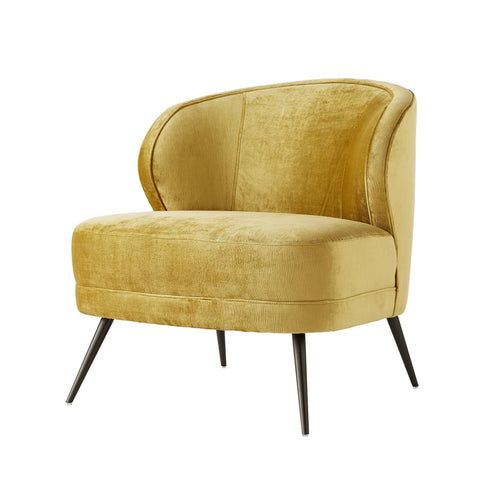 arteriors kitts chair marigold velvet