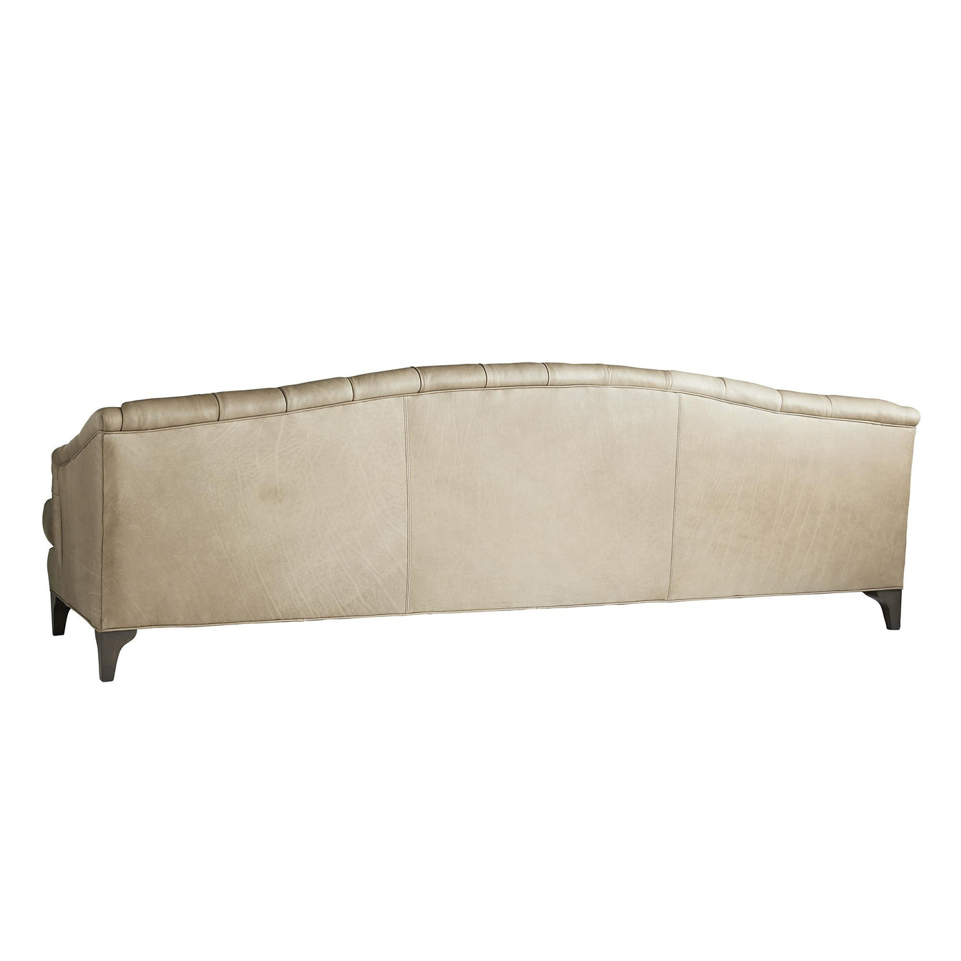 arteriors home klein sofa back mushroom leather