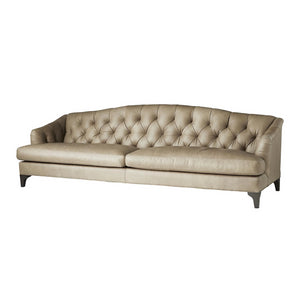 arteriors home Klein sofa mushroom sofa leather fabric