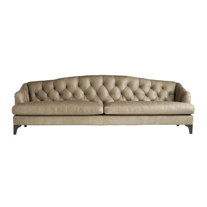 arteriors home klein sofa leather wood legs chesterfield