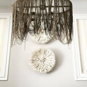 arteriors layla pendant chains hanging dining room