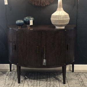 arteriors Leilani console wood doors showroom