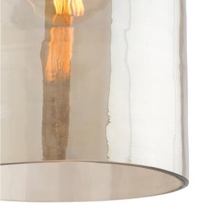 arteriors home noreen pendant glass smoky luster iron vintage brass finish 44081