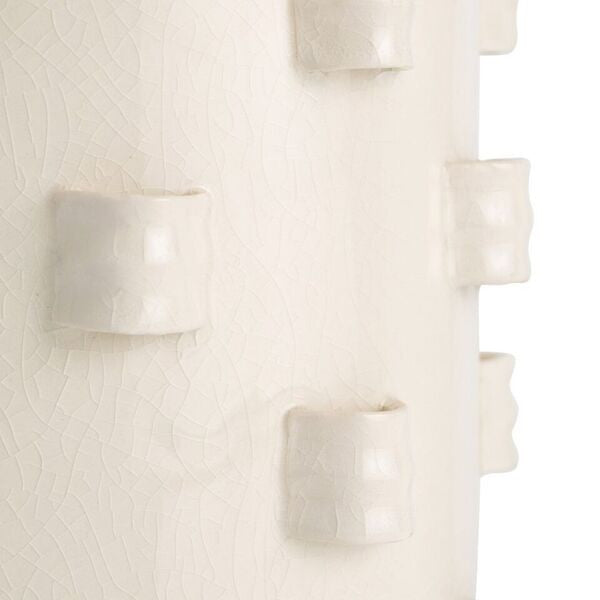 arteriors home robertson table lamp porcelain ivory crackle finish detail