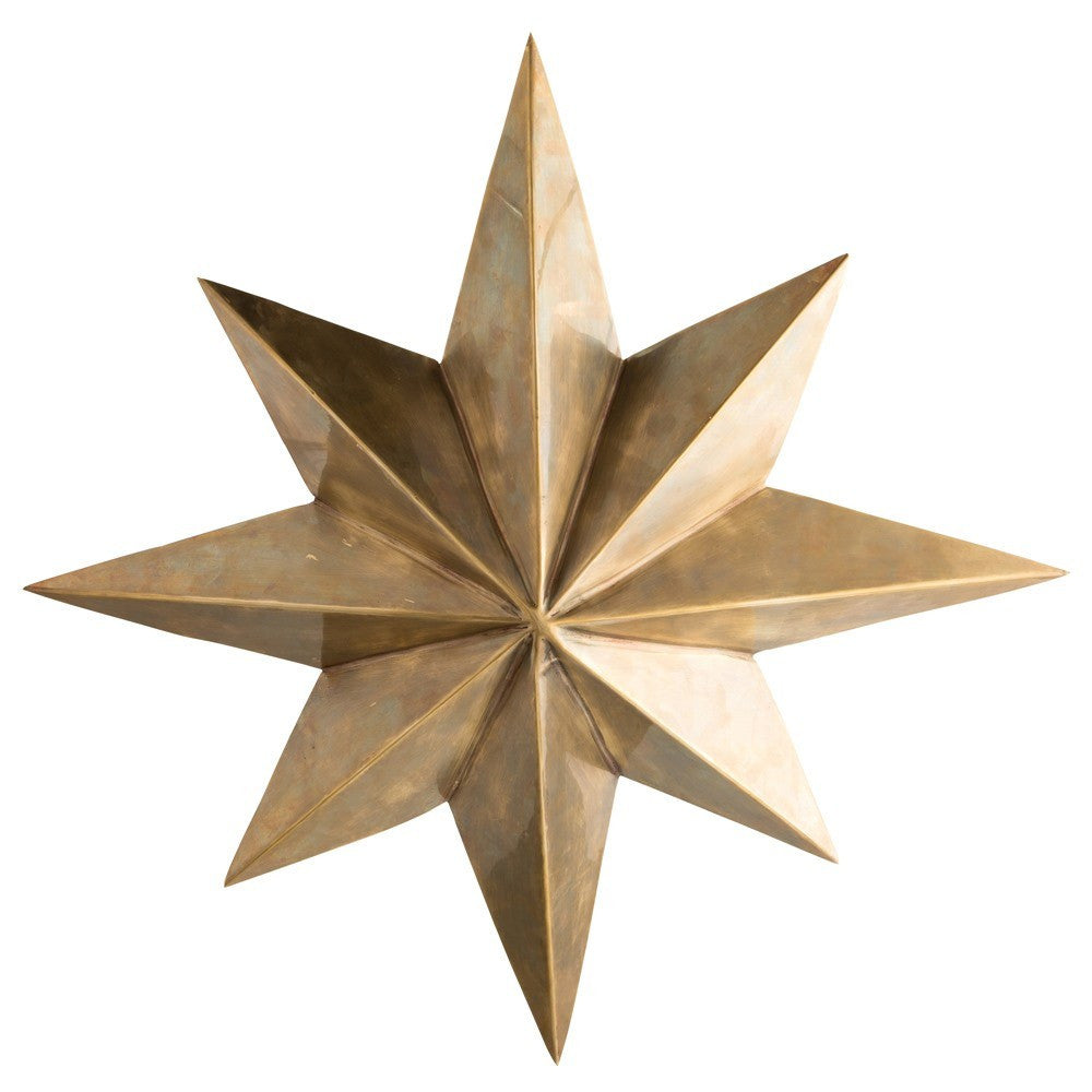 arteriors home rex pendant light 8 point star antique brass 4 lights 46821 under