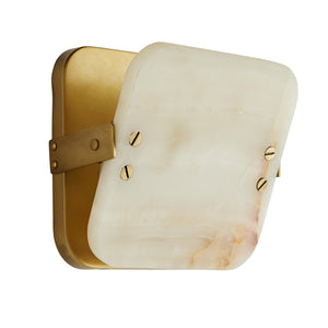 arteriors mercury sconce white onyx tilt light up