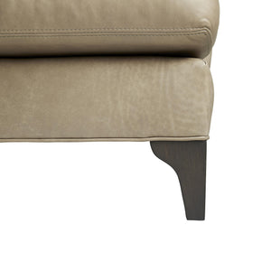 arteriors home Chesterfield sofa gray ash wood legs