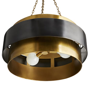 arteriors nolan pendant gold black under