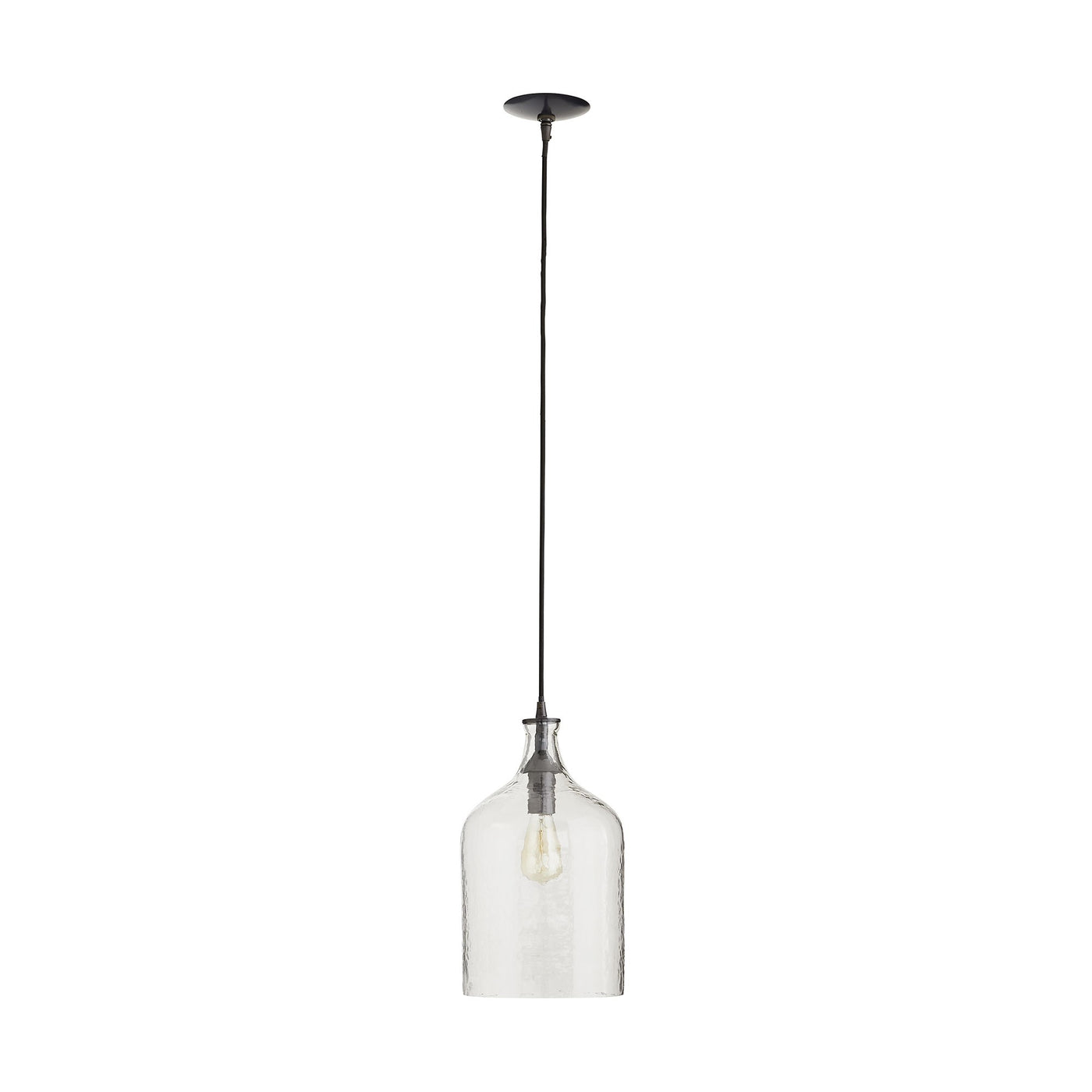 arteriors noreen pendant clear seedy glass full view