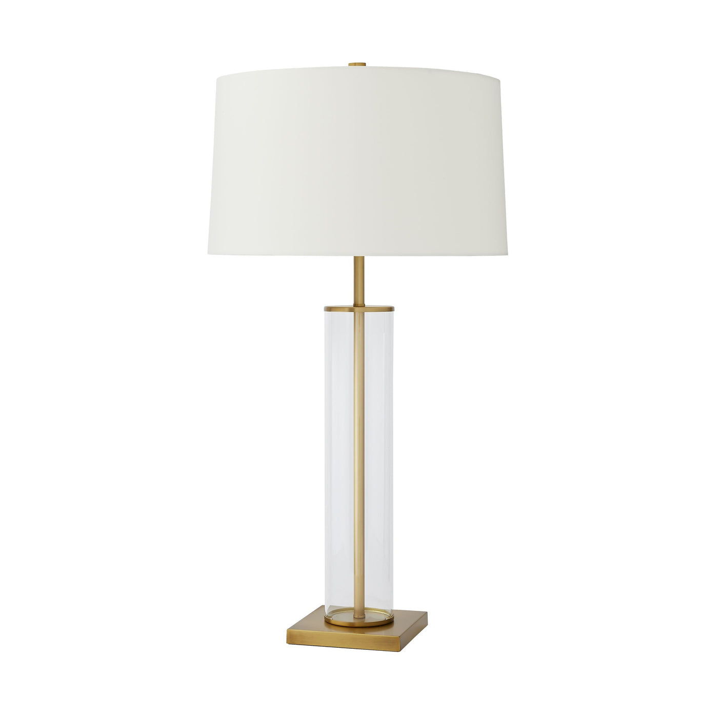 arteriors norman lamp antique brass