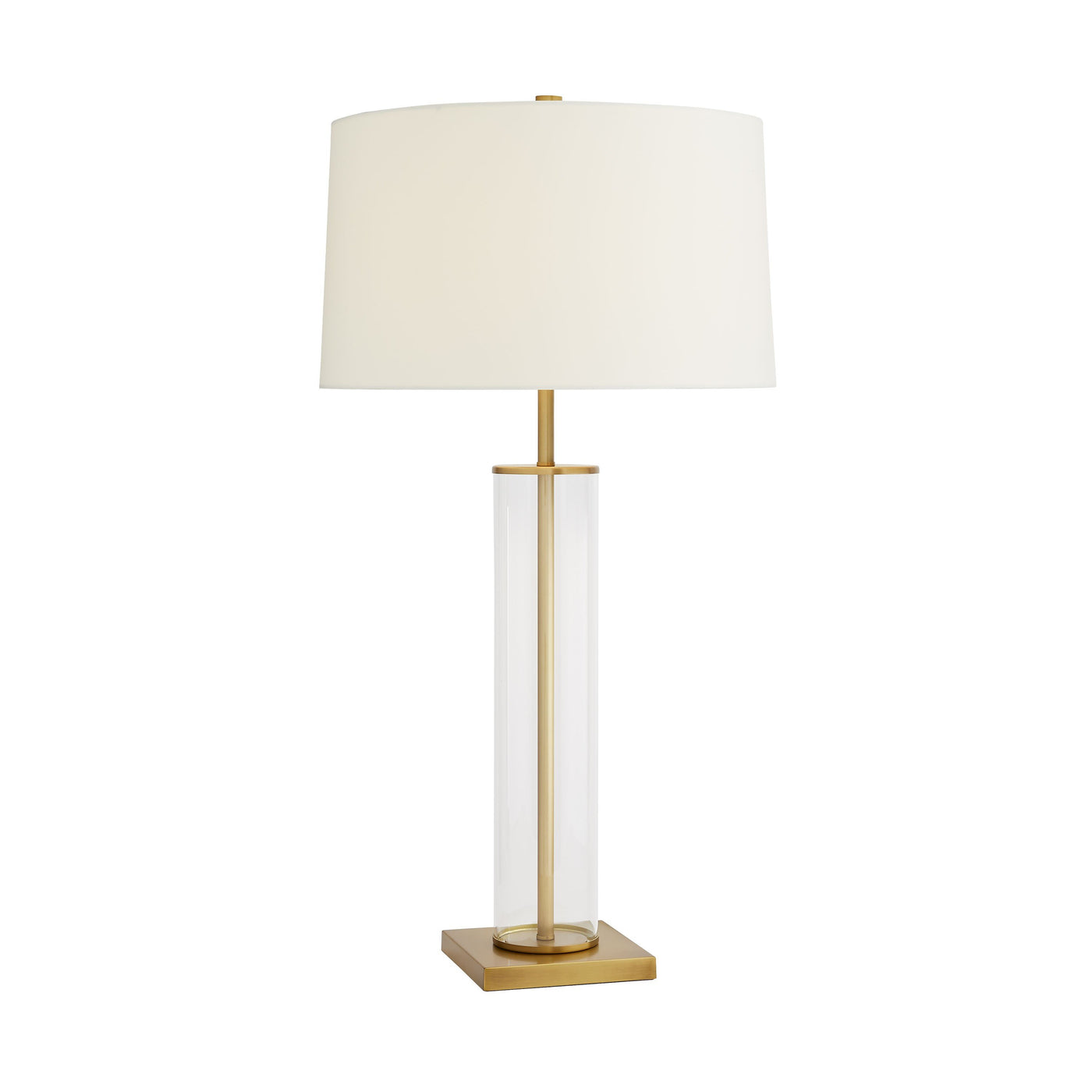 arteriors norman lamp antique brass illuminated