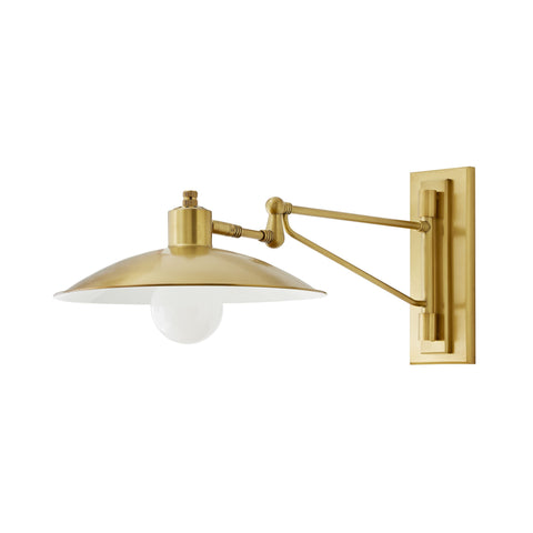 arteriors nox sconce antique brass