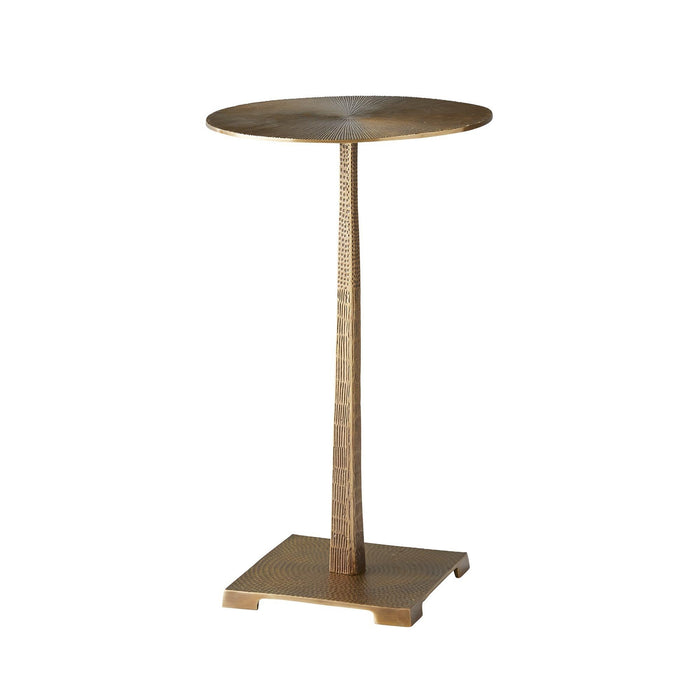 arteriors home otelia accent table vintage brass