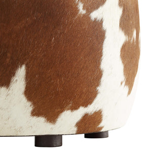 arteriors owen stool hide close up feet legs