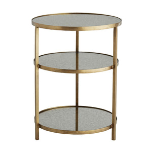 arteriors home percy end table antique brass