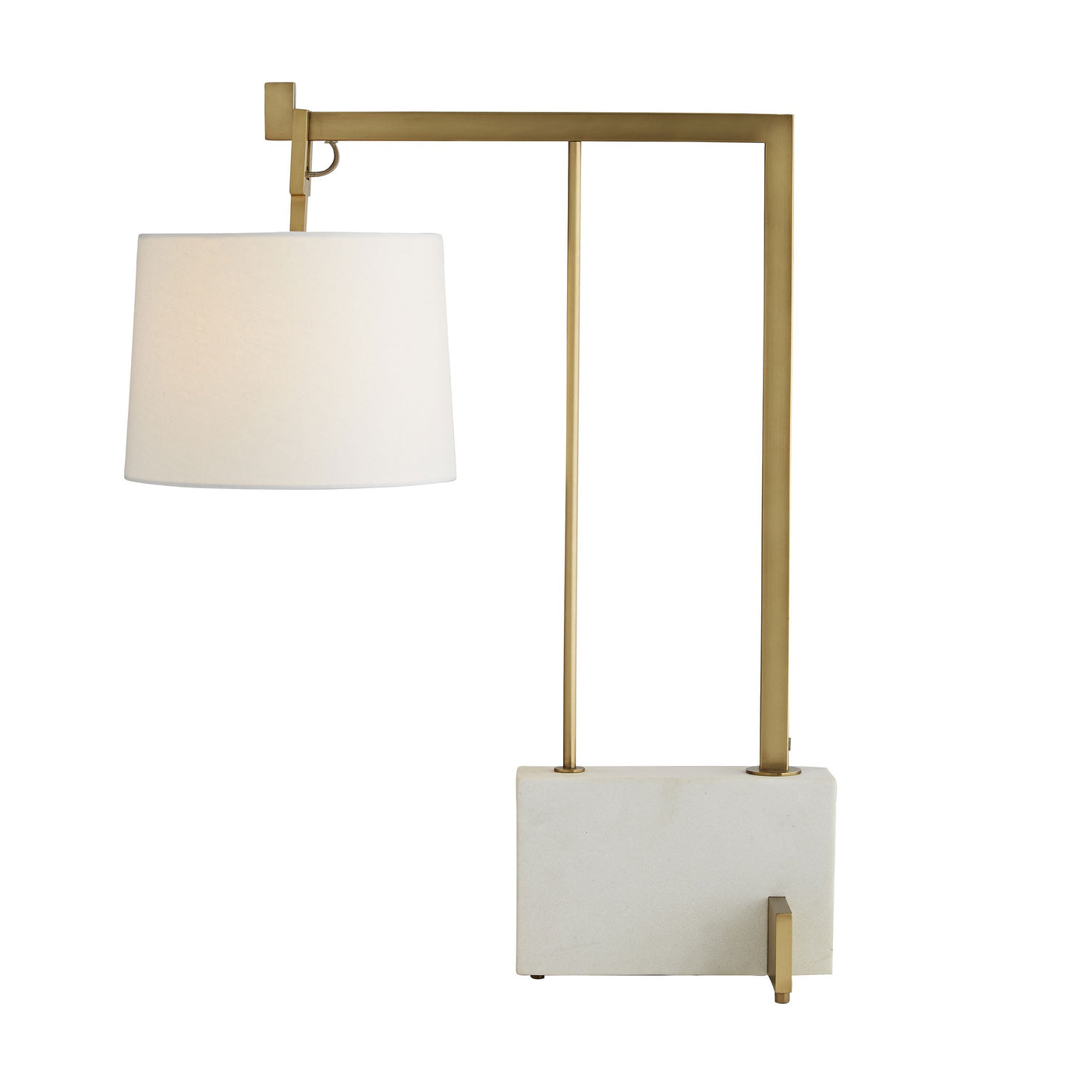 arteriors piloti lamp antique brass angle illuminated