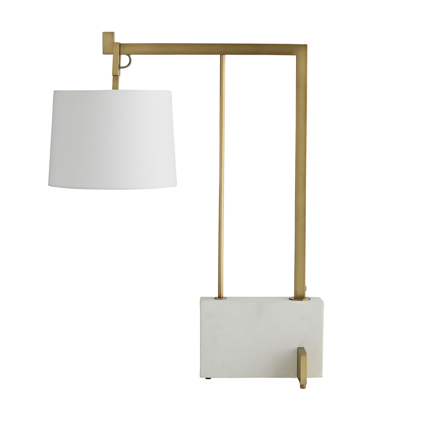 arteriors piloti lamp antique brass