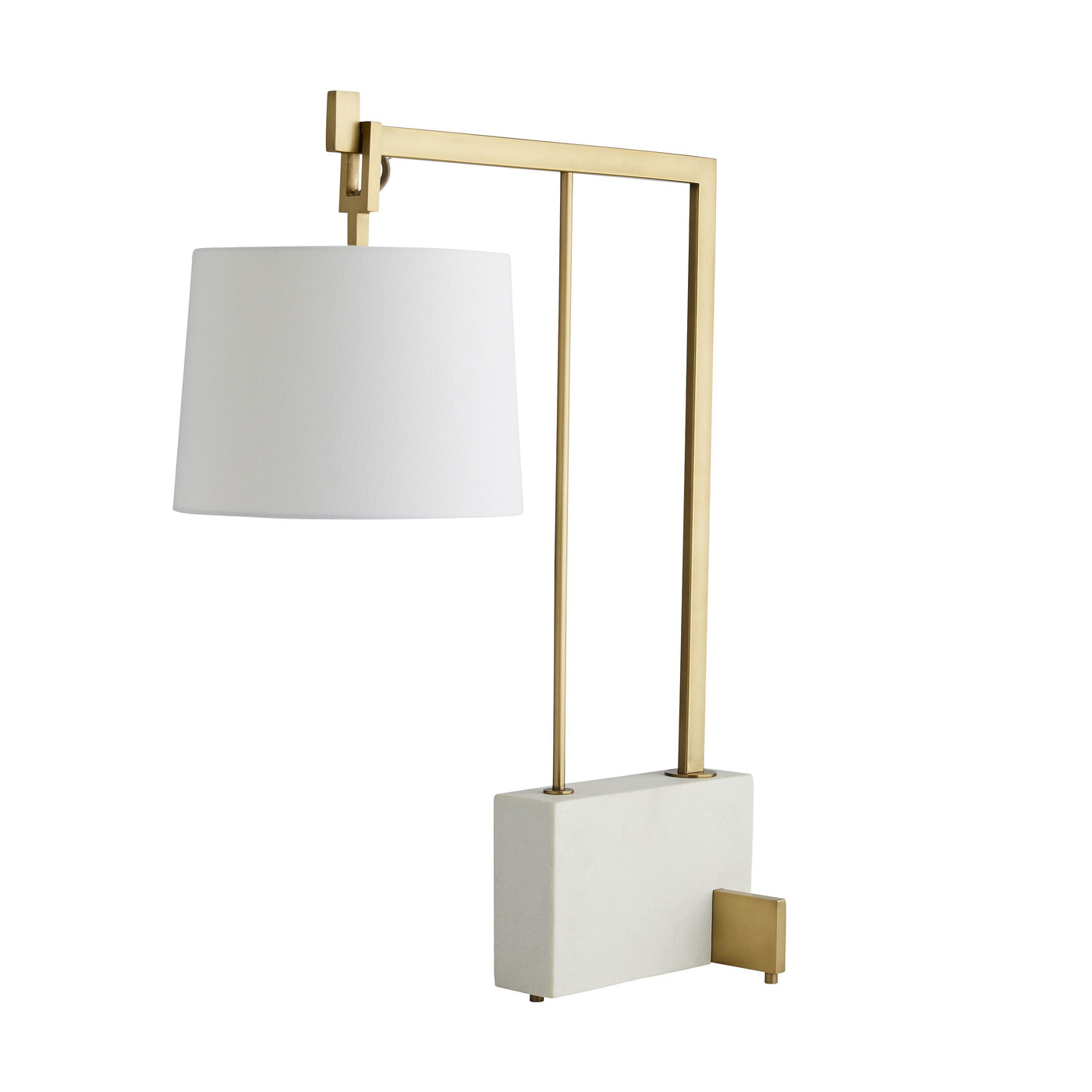arteriors piloti lamp antique brass angle