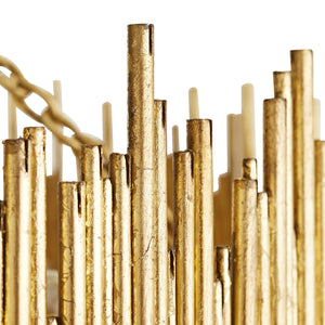 arteriors home prescott gold brass rods