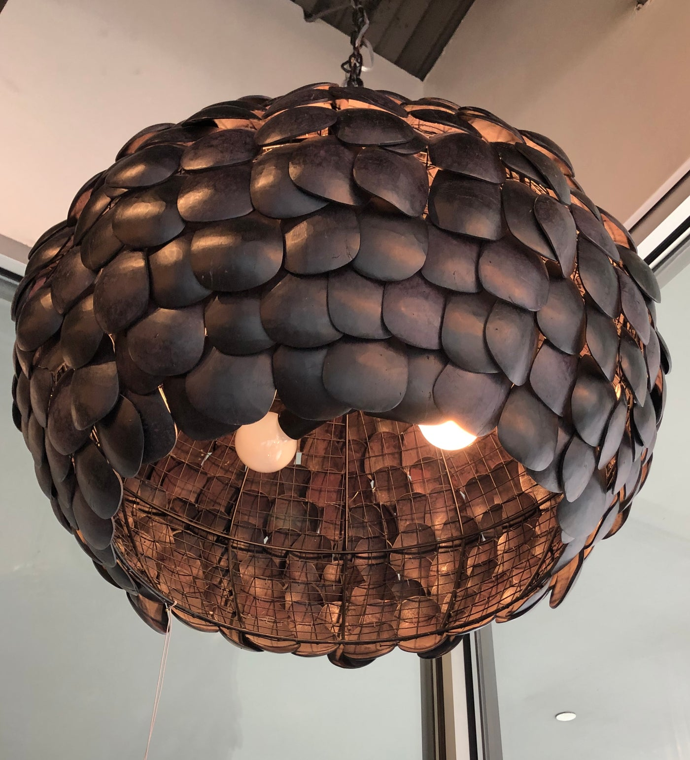 arteriors ramya pendant black showroom hanging