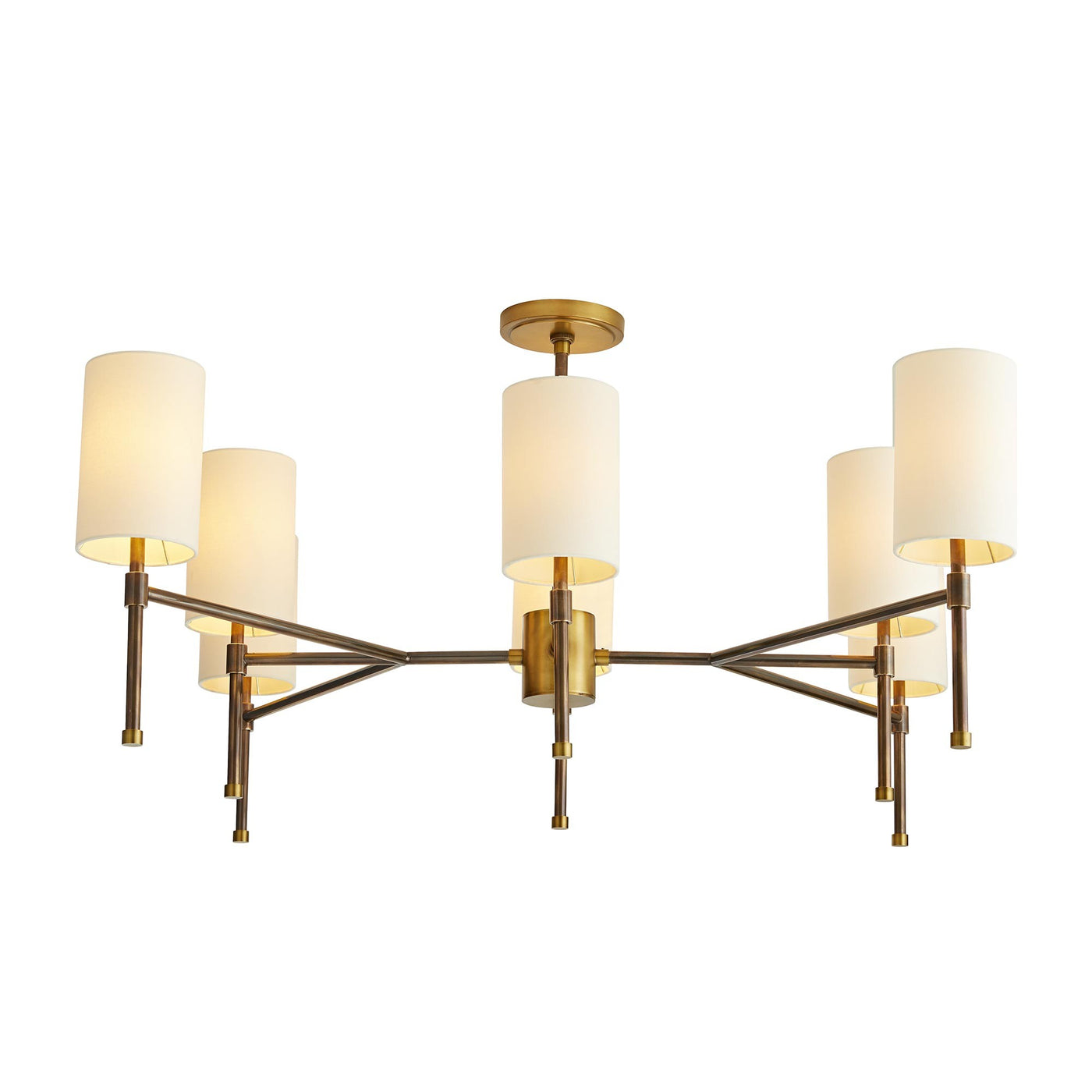 arteriors home remington lights on chandelier