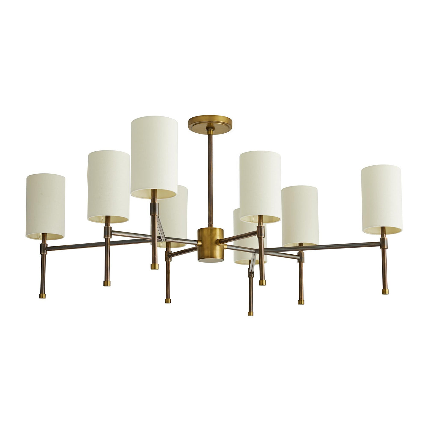 arteriors remington chandelier antique brass