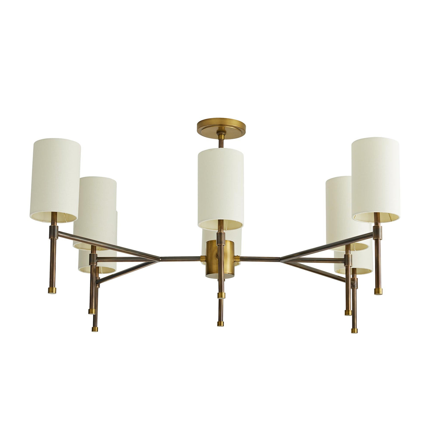 arteriors remington eight arm chandelier