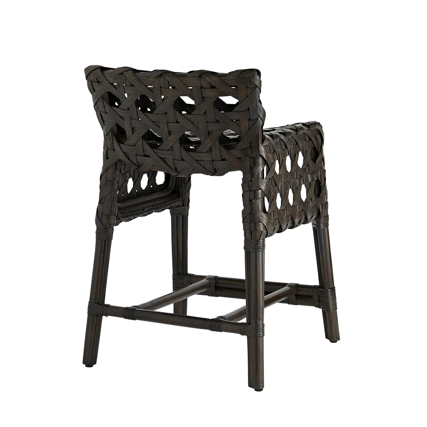 arteriors richmond counter stool espresso back