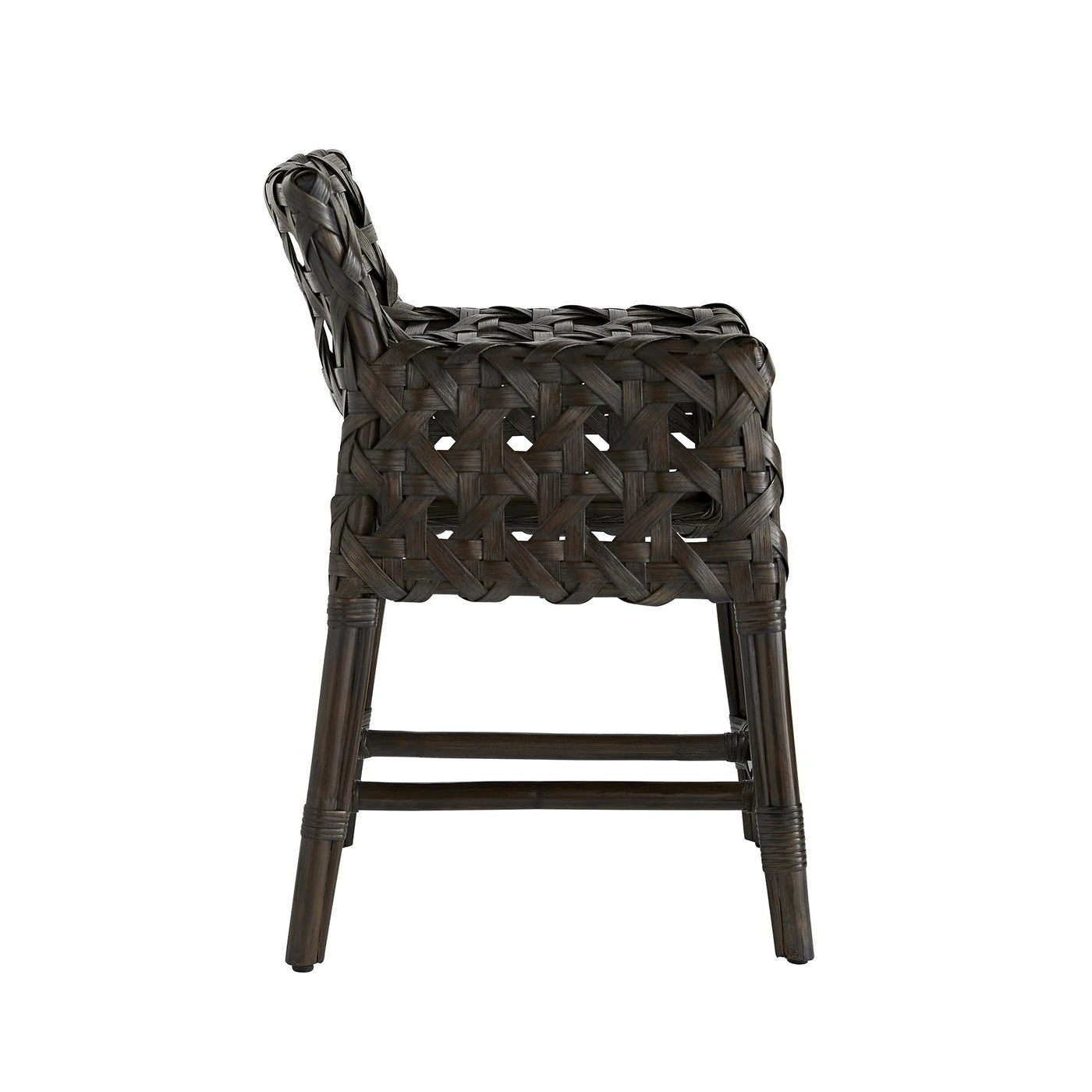 arteriors richmond counter stool espresso side view
