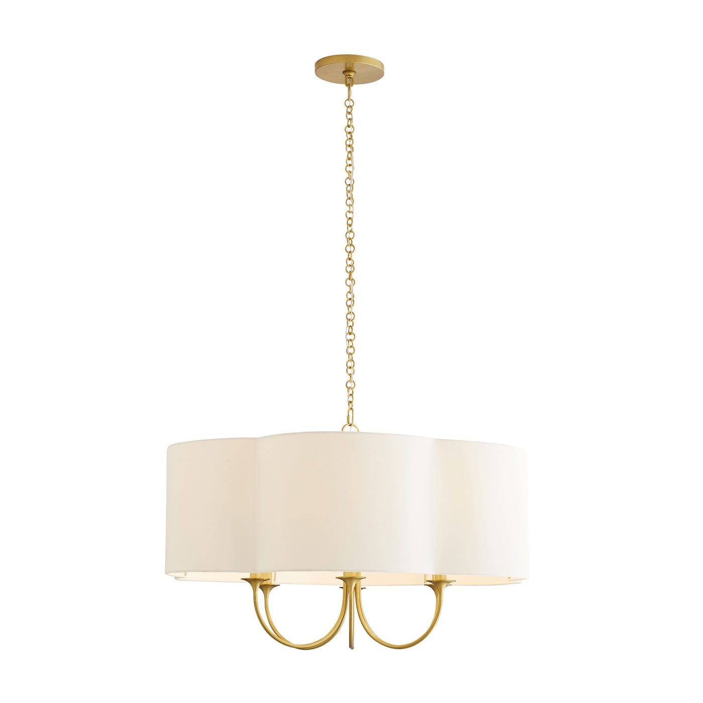 arteriors rittenhouse chandelier antique brass full view illuminated