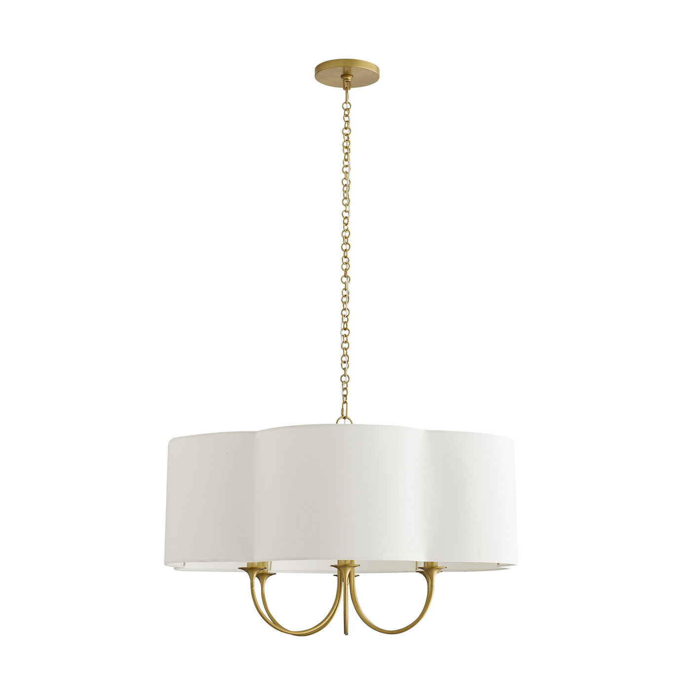 arteriors rittenhouse chandelier antique brass full view