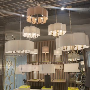 arteriors rittenhouse chandelier metal shade showroom