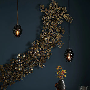 arteriors rizzo wall sculpture metal