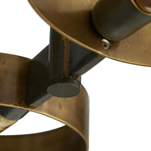 arteriors rocco pendant under metal close up