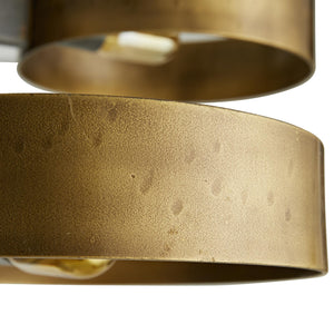 arteriors rocco pendant close up brass finish