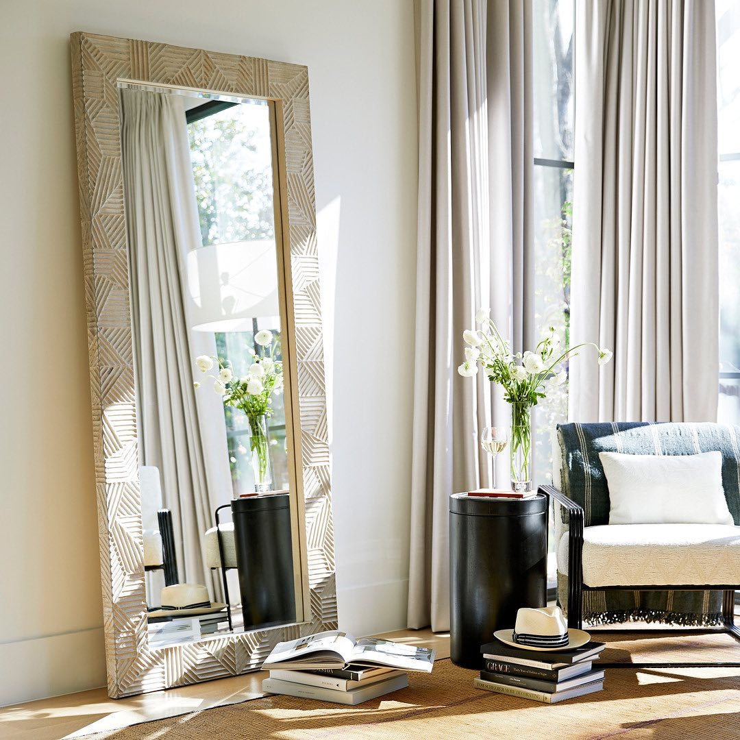 arteriors marsh floor mirror styled