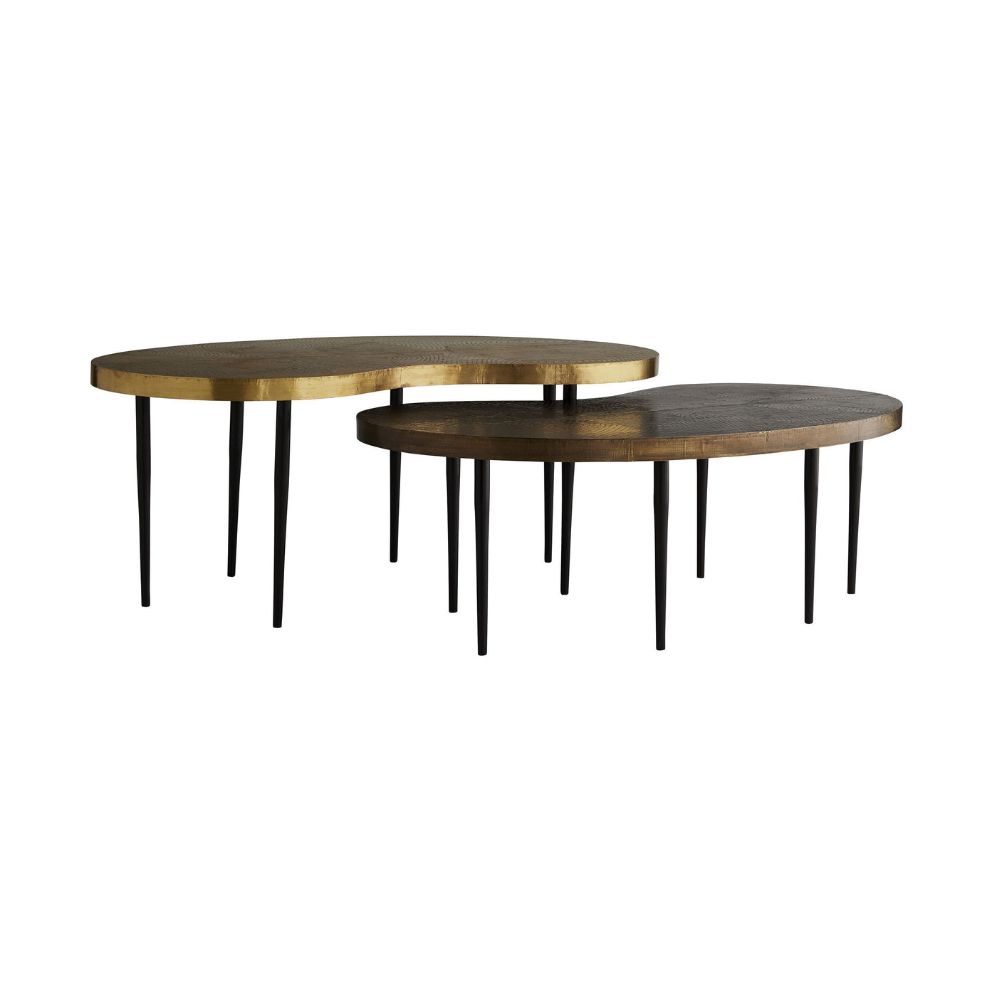 arteriors sloan short coffee table both sizes