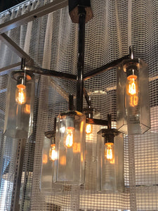 arteriors soloman pendant light glass nickel showroom