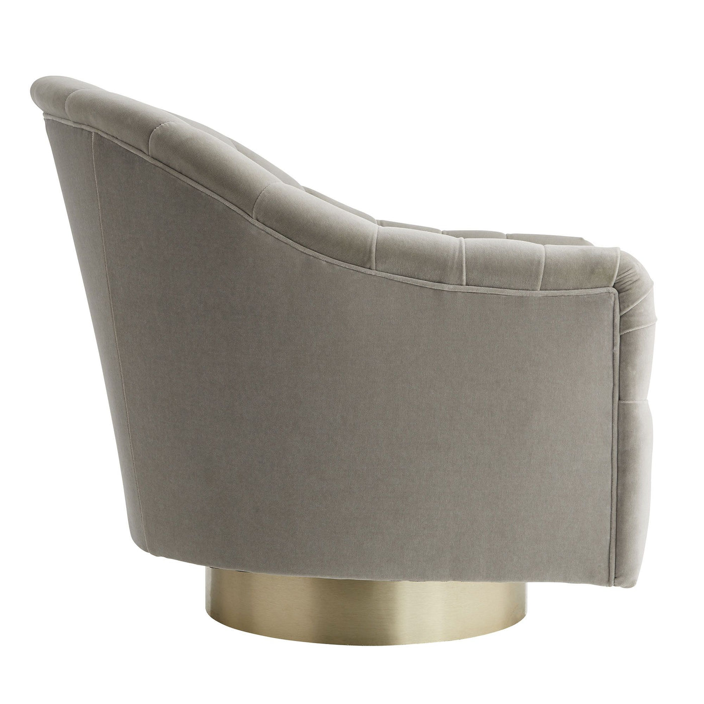 arteriors springsteen flint velvet champagne swivel side