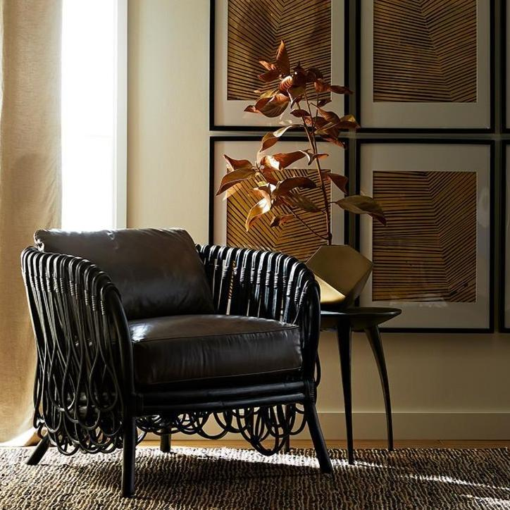 arteriors strata lounge chair graphite styled