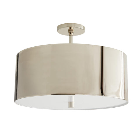 arteriors home tarbell semi flush polished nickel