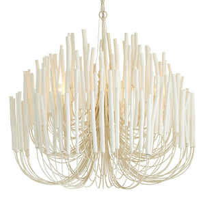 arteriors home tilda large chandelier white wooden
