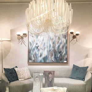 arteriors home tilda chandelier large shown in room