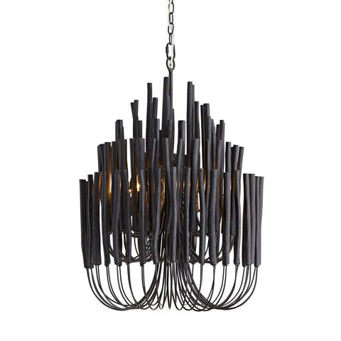 arteriors tilda small black chandelier
