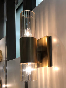 arteriors home Tompkins wall sconce gold showroom