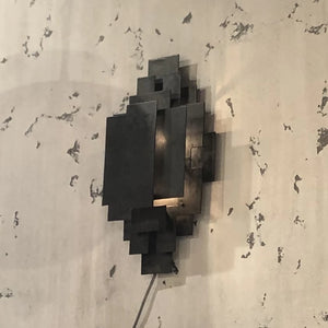arteriors Trinidad wall sconce black metal showroom market