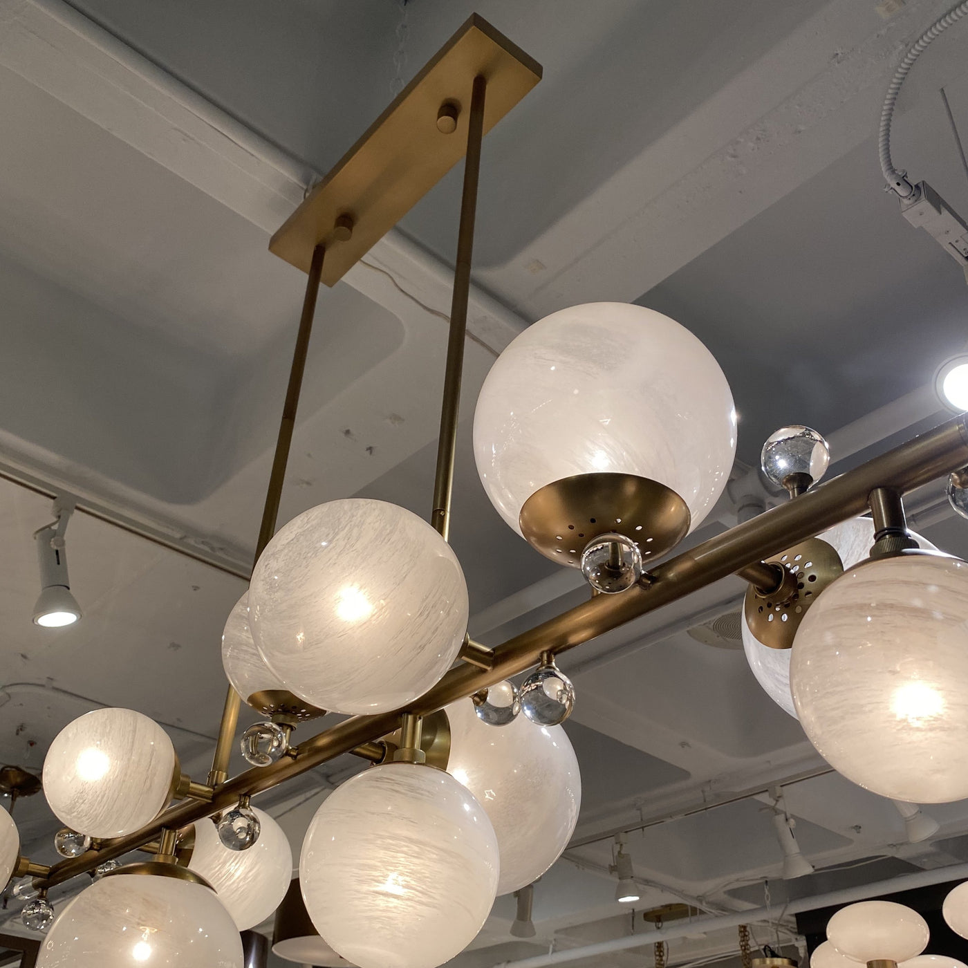 arteriors troon chandelier close up bulb
