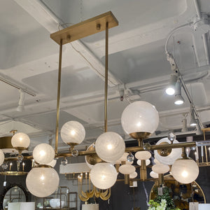 arteriors troon rectangle pendant brass