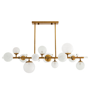 arteriors troon chandelier antique brass